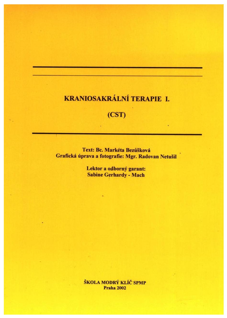 Kraniosakrální terapie I.