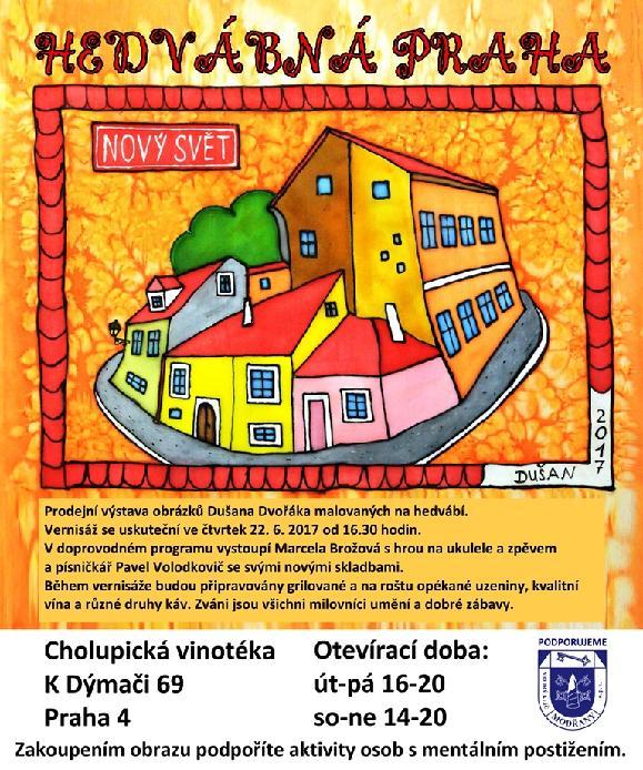 Prodejní výstava obrázků Dušana Dvořáka