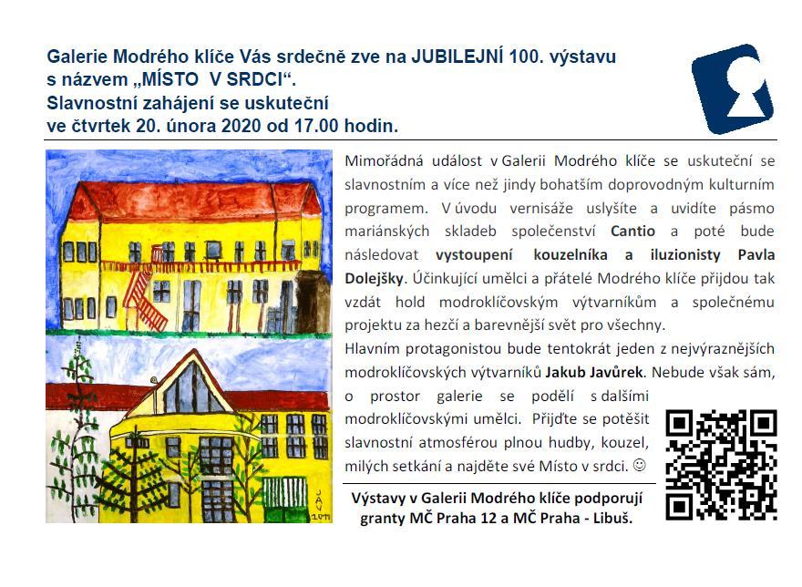 Jubilejní 100. výstava v Galerii Modrého klíče