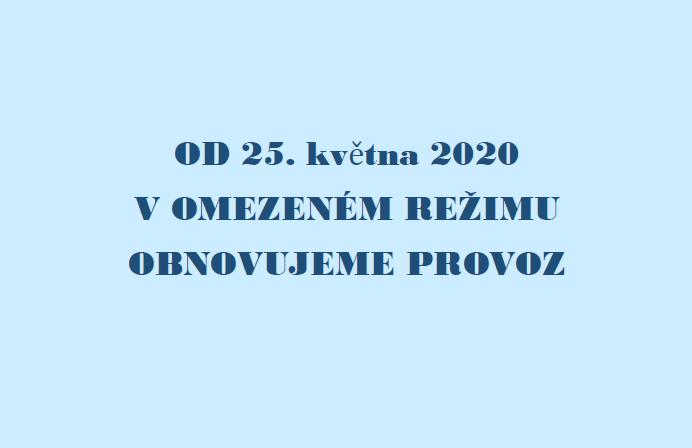 Od pondělí 25. května 2020 obnovujeme v omezeném režimu provoz denního a týdenního stacionáře Modrého klíče!